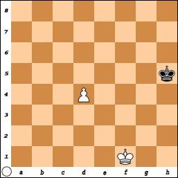 King and pawn endgame